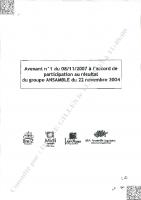 Avenant N°1 participation – Signé le 23/11/2007