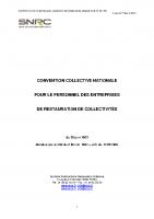 Convention Collective – Signé en 2013