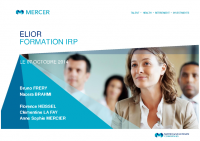 20141031_ELIOR_Formation IRP
